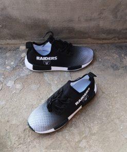 Customize Oakland Raiders Fans Women Men Sneakers