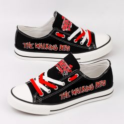 Customize The Walking Dead Printed Women Men Low Top Canvas Sneakers