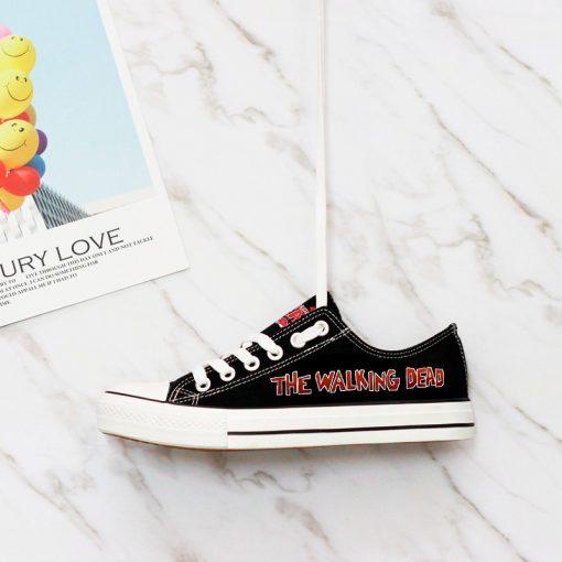 Customize The Walking Dead Printed Women Men Low Top Canvas Sneakers