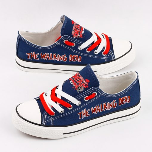Customize The Walking Dead Printed Women Men Low Top Canvas Shoes Sport
