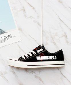 Customize The Walking Dead Women Men Low Top Canvas Shoes Sport