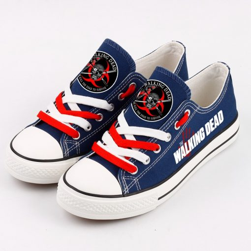 Customize The Walking Dead Unisex Low Top Canvas Shoes Sport