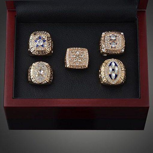 Dallas Cowboys 1992/1993/1995/1977/1971 Championship Ring Set