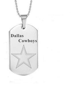 Dallas Cowboys Engraving Tungsten Necklace