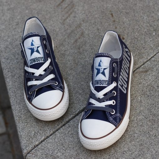 Dallas Cowboys Limited Low Top Canvas Sneakers
