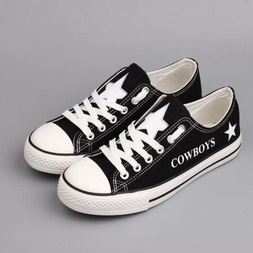 Dallas Cowboys Low Top Canvas Sneakers