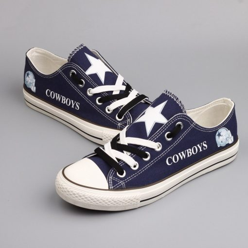 Dallas Cowboys Limited Low Top Canvas Shoes Sport