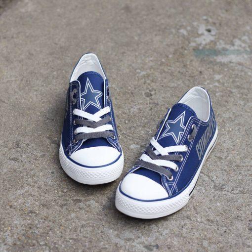 Dallas Cowboys Fans Low Top Canvas Shoes Sport
