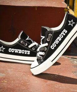 Dallas Cowboys Limited Fans Low Top Canvas Shoes Sport