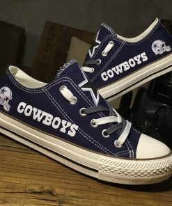 Dallas Cowboys Limited Fans Low Top Canvas Sneakers