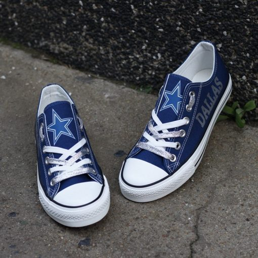 Dallas Cowboys Limited Low Top Canvas Sneakers T-DG30L
