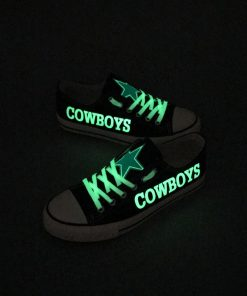 Dallas Cowboys Limited Luminous Low Top Canvas Sneakers