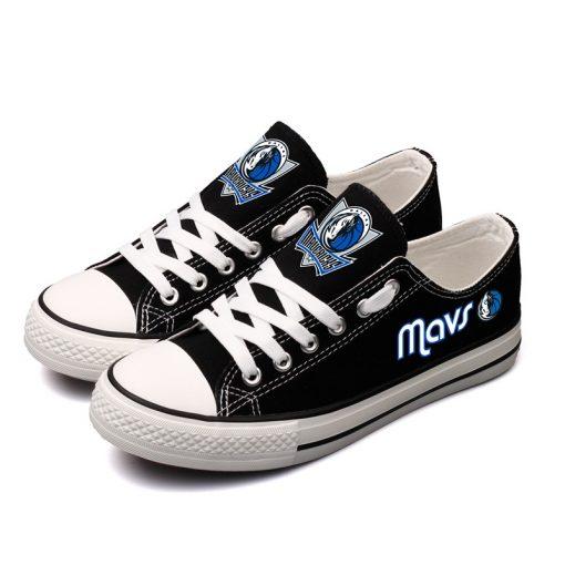 Dallas Mavericks Limited Fans Low Top Canvas Sneakers