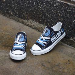 Dallas Mavericks Limited Fans Low Top Canvas Shoes Sport