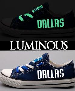 Dallas Mavericks Limited Luminous Low Top Canvas Sneakers