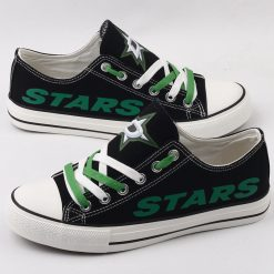 Dallas Stars Limited Fans Low Top Canvas Shoes Sport