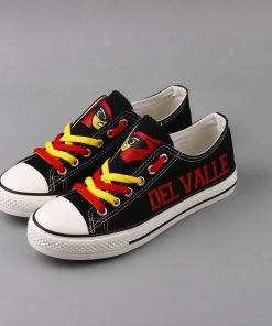 Del Valle Cardinals Limited High School Students Low Top Canvas Sneakers
