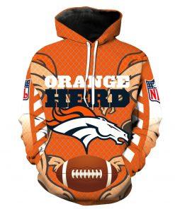 Denver Broncos Football Hoodie