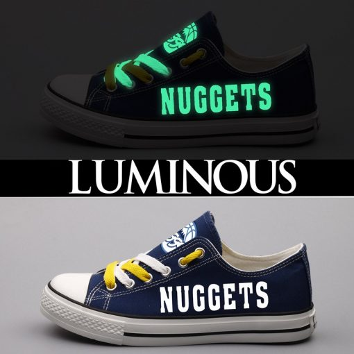 Denver Nuggets Limited Luminous Low Top Canvas Sneakers