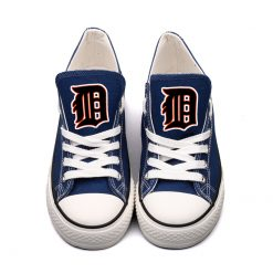 Detriot Tigers Limited Low Top Canvas Sneakers