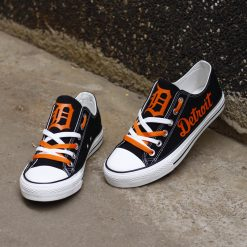 Detriot Tigers Limited Low Top Canvas Shoes Sport
