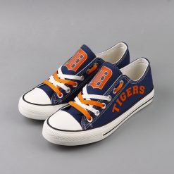 Detriot Tigers Limited Fans Low Top Canvas Sneakers
