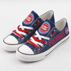 Detroit Pistons Limited Low Top Canvas Shoes Sport