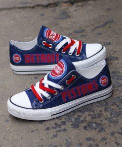 Detroit Pistons Limited Low Top Canvas Shoes Sport