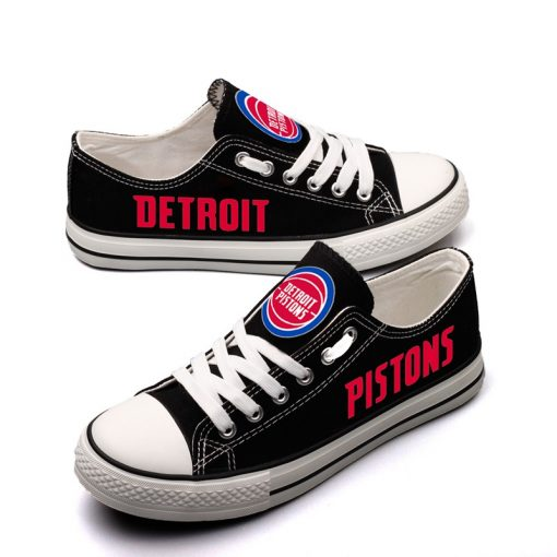 Detroit Pistons Limited Low Top Canvas Sneakers