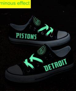 Detroit Pistons Limited Luminous Low Top Canvas Shoes Sport