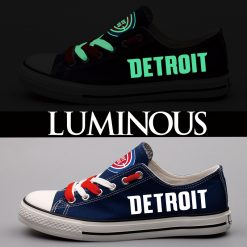 Detroit Pistons Limited Luminous Low Top Canvas Shoes Sport