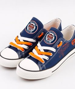 Detroit Tigers Low Top Canvas Sneakers