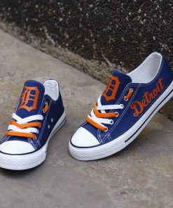 Detroit Tigers Limited Low Top Canvas Shoes Sport