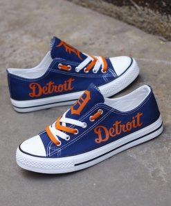 Detroit Tigers Limited Low Top Canvas Shoes Sport