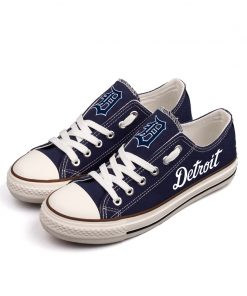 Detroit Tigers Low Top Canvas Shoes Sport