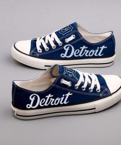 Detroit Tigers Low Top Canvas Shoes Sport