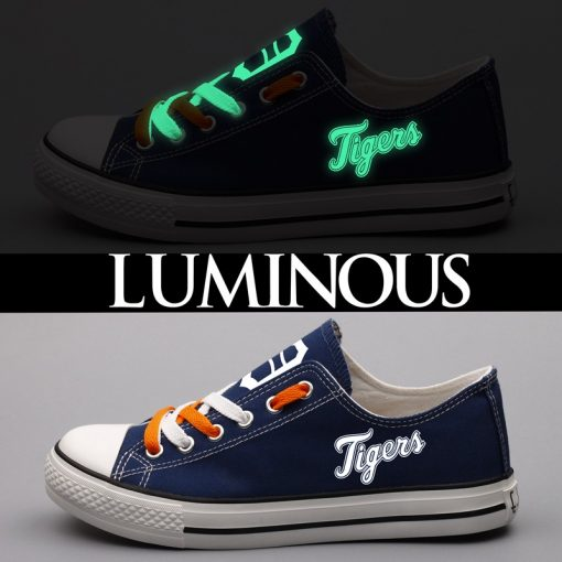 Detroit Tigers Limited Luminous Low Top Canvas Sneakers