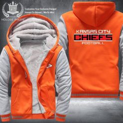 Dropshipping USA Size Men Chiefs City Thicken Kansas Fleece Hoodie Zipper Hoodie Sweatshirt Jacket Custom Coat 1