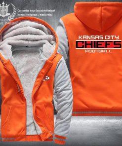 Dropshipping USA Size Men Chiefs City Thicken Kansas Fleece Hoodie Zipper Hoodie Sweatshirt Jacket Custom Coat 1