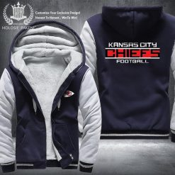 Dropshipping USA Size Men Chiefs City Thicken Kansas Fleece Hoodie Zipper Hoodie Sweatshirt Jacket Custom Coat