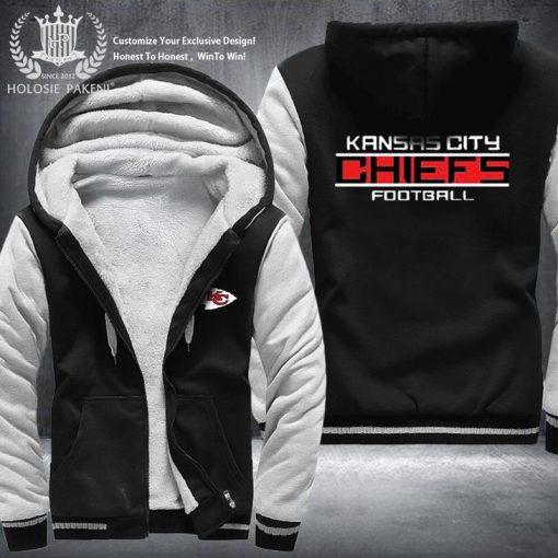 Dropshipping USA Size Men Chiefs City Thicken Kansas Fleece Hoodie Zipper Hoodie Sweatshirt Jacket Custom Coat 3