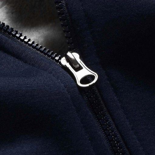Dropshipping USA Size Men Chiefs City Thicken Kansas Fleece Hoodie Zipper Hoodie Sweatshirt Jacket Custom Coat 5
