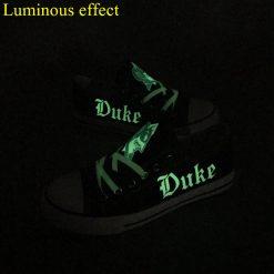 Duke Blue Devils Limited Luminous Low Top Canvas Sneakers