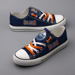 Edmonton Oilers Limited Low Top Canvas Sneakers