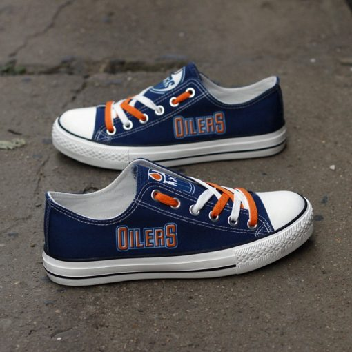 Edmonton Oilers Limited Low Top Canvas Sneakers