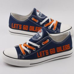 Edmonton Oilers Limited Low Top Canvas Shoes Sport