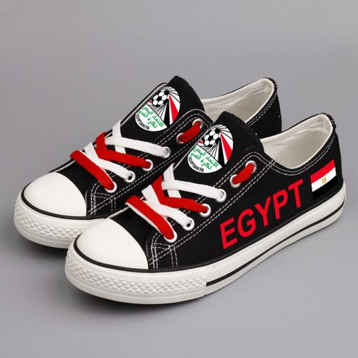 Egypt National Team Low Top Canvas Sneakers