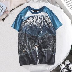 Fashion Lover Splash ink 3D Printing Tees Shirt Short Sleeve T Shirt Blouse Tops kansas city
