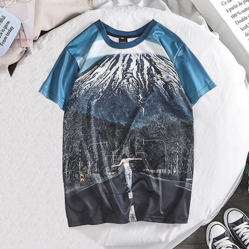 Fashion Lover Splash ink 3D Printing Tees Shirt Short Sleeve T Shirt Blouse Tops kansas city