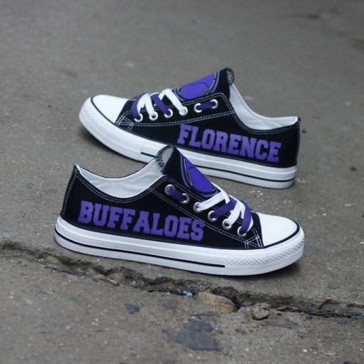 Florence Buffaloes Limited High School Students Low Top Canvas Sneakers